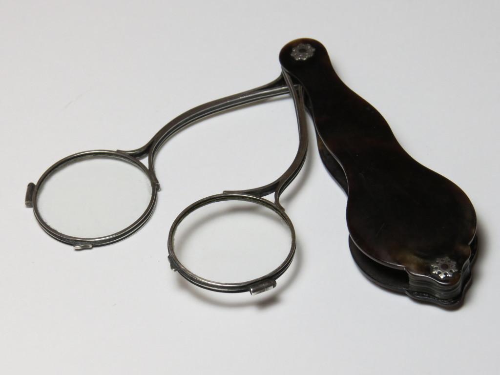 Tortoiseshell and silver scissors
