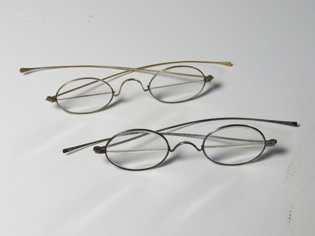 Gold and steel bifocals.
