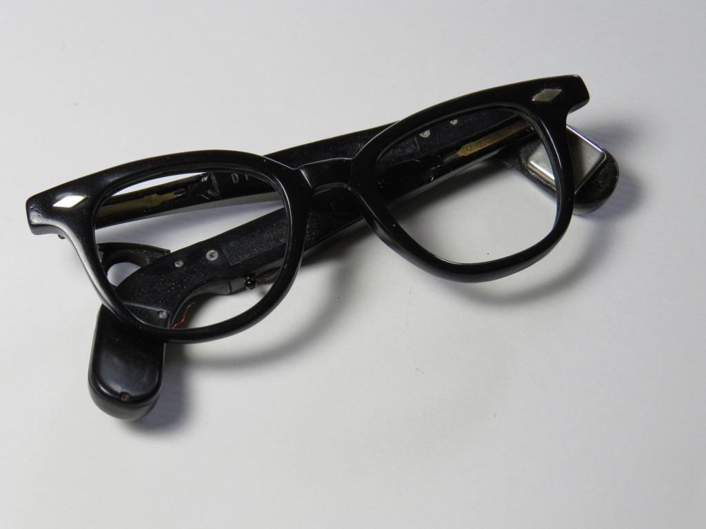 Men's hearing aid spectacles - 1950's